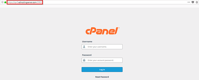 Login_To_cPanel_Account_Server_URL