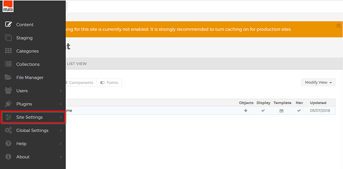 Application_Mura_Site_Settings
