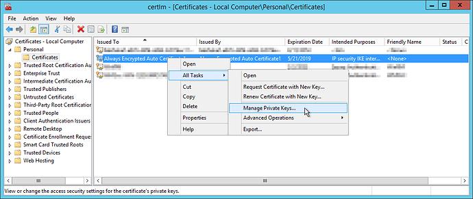 CertLM-ManagePrivateKeys