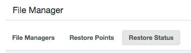 Restore Status