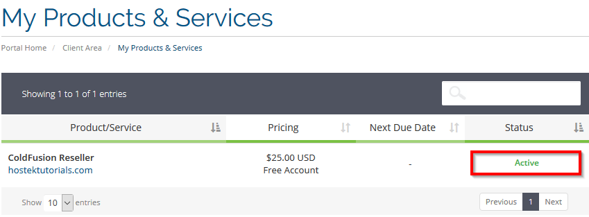 Billing_Account_My_Services_cPanel