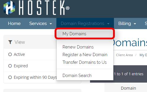 My_domains_menu