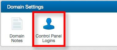Control Panel Logins