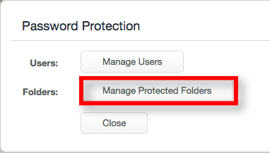Manage Protected Folders