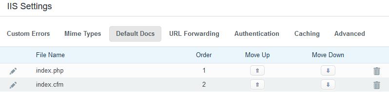Utilizing The IIS Settings - WCP Domain Control Panel