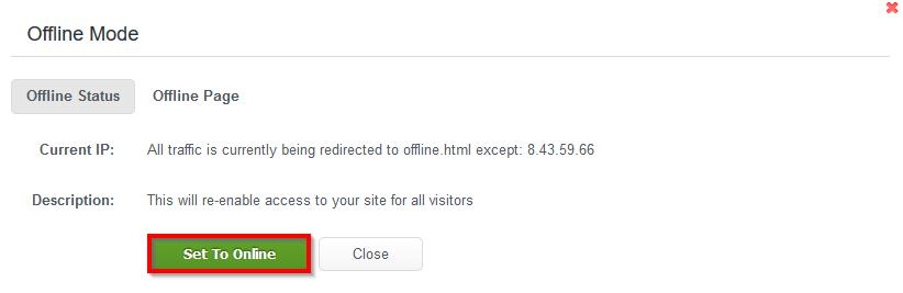 WCP_DomainControlPanel_Security_Set_Offline_Set_TO_Online