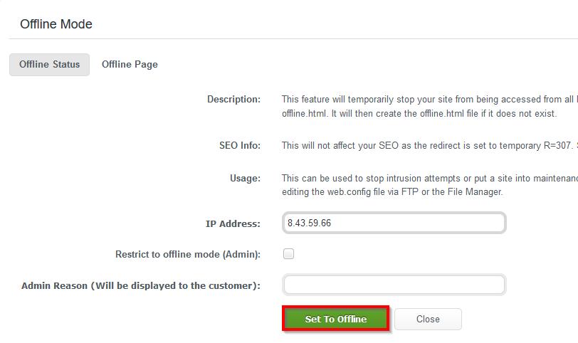 WCP_DomainControlPanel_Security_Set_Offline_Status_Set_To_Offline