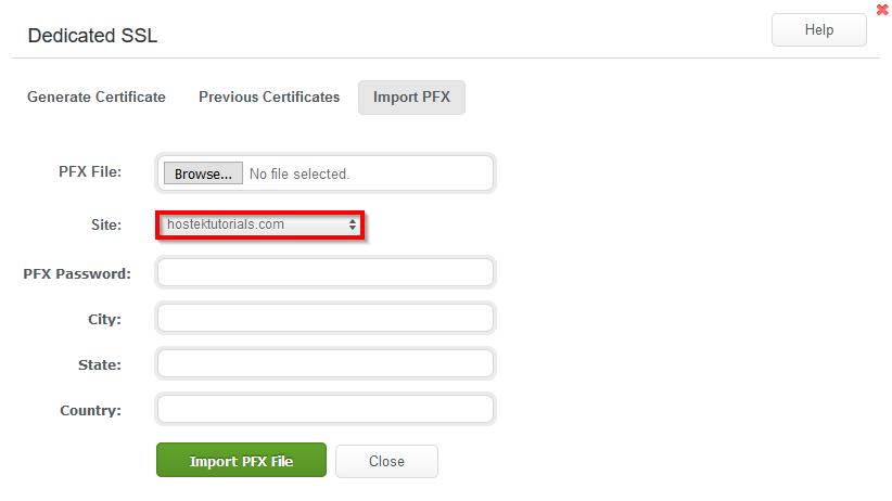 Dedicated SSL for Your Website - WCP Domain Control Panel - Hostek ...