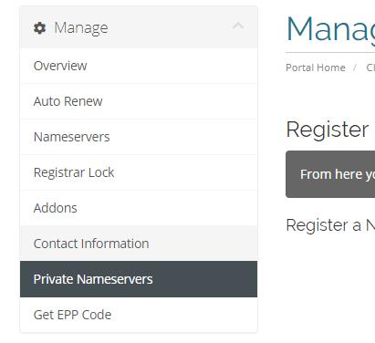 private nameservers